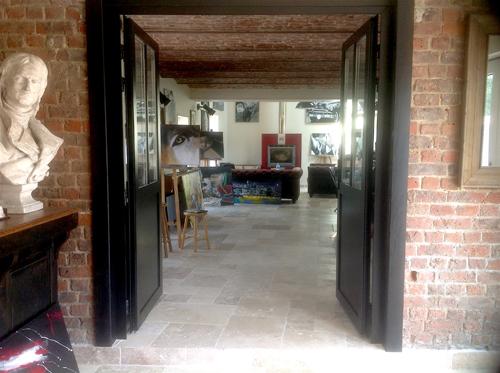 L'entrée de l'atelier